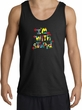 I'm With Stupid Tank Top - Funny Two Ways Adult Black Tanktop