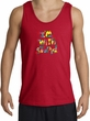 I'm With Stupid Tank Top - Funny Two Ways Adult Red Tanktop