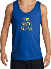 I'm With Stupid Tank Top - Funny Two Ways Adult Royal Tanktop