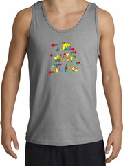I'm With Stupid Tank Top - Funny Two Ways Adult Sports Grey Tanktop