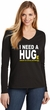 I Need A Huge Amount Of Social Distancing Ladies Long Sleeve V-Neck T-Shirt