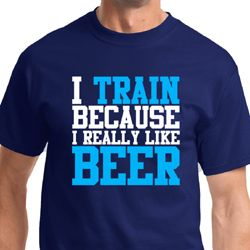 I Train For Beer Mens Fitness Shirts
