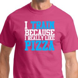 I Train For Pizza Mens Fitness Shirts