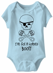 I've Got A Loaded Booty Funny Baby Romper Blue Infant Babies Creeper