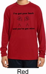 I've Got Your Back Kids Dry Wicking Long Sleeve Shirt