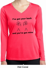 I've Got Your Back Ladies Dry Wicking Long Sleeve Shirt