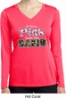 I Wear Pink Under My Camo Ladies Dry Wicking Long Sleeve Shirt