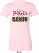 I Wear Pink Under My Camo Ladies Longer Length Shirt