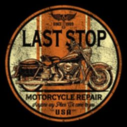 Indian Motorcycle T-shirt - Last Stop Adult Bike Tee