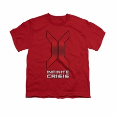 Infinite Crisis Shirt Kids Title Red T-Shirt