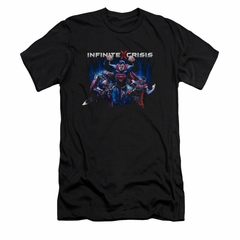 Infinite Crisis Shirt Slim Fit Superman Black T-Shirt