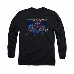 Infinite Crisis Shirt Superman Long Sleeve Black Tee T-Shirt