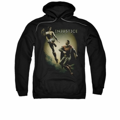 Injustice Gods Among Us Hoodie Wonderwoman VS Superman Black Sweatshirt Hoody