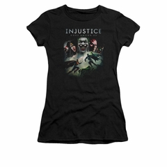 Injustice Gods Among Us Shirt Juniors Superman VS Batman Black T-Shirt