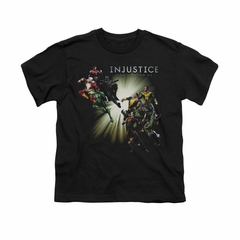 Injustice Gods Among Us Shirt Kids Good VS Evil Black T-Shirt