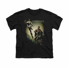 Injustice Gods Among Us Shirt Kids Wonderwoman VS Superman Black T-Shirt