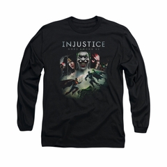 Injustice Gods Among Us Shirt Superman VS Batman Long Sleeve Black Tee T-Shirt