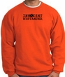 INNOCENT BYSTANDER BLACK Funny Adult Sweatshirt - Orange