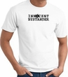 INNOCENT BYSTANDER BLACK Funny Adult T-shirt - White