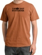 Innocent Bystander Shirt Black Print Pigment Dyed Tee Burnt Orange