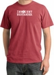 Innocent Bystander Shirt White Print Pigment Dyed Tee Dashing Red