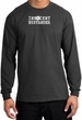 INNOCENT BYSTANDER WHITE Funny Adult Long Sleeve T-Shirt - Charcoal
