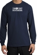 INNOCENT BYSTANDER WHITE Funny Adult Long Sleeve T-Shirt - Navy