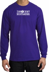 INNOCENT BYSTANDER WHITE Funny Adult Long Sleeve T-Shirt - Purple