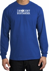 INNOCENT BYSTANDER WHITE Funny Adult Long Sleeve T-Shirt - Royal