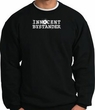INNOCENT BYSTANDER WHITE Funny Adult Pullover Sweatshirt - Black