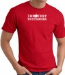 INNOCENT BYSTANDER WHITE Funny Adult T-shirt - Red