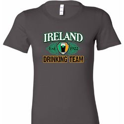 Ireland EST 1922 Drinking Team Ladies St Patrick's Day Shirts