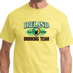 Ireland EST 1922 Drinking Team Mens St Patrick's Day Shirts