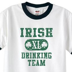 Irish Drinking Team Mens Shirts