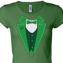 Irish Tuxedo Ladies Shirts