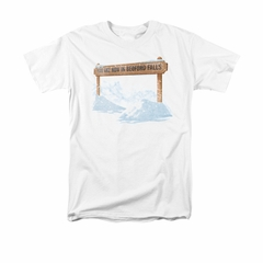 It's A Wonderful Life Shirt Bedford Falls Adult White Tee T-Shirt