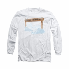 It's A Wonderful Life Shirt Bedford Falls Long Sleeve White Tee T-Shirt