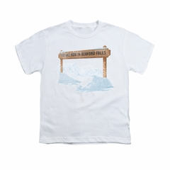 It's A Wonderful Life Shirt Kids Bedford Falls White Youth Tee T-Shirt