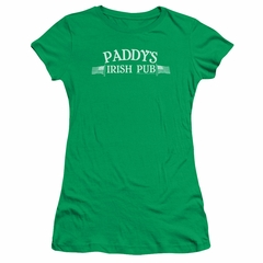 It's Always Sunny In Philadelphia Juniors Shirt Paddys Logo Kelly Green T-Shirt
