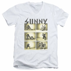 It's Always Sunny In Philadelphia Slim Fit V-Neck Shirt Rock Photos White T-Shirt