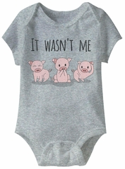 It Wasn't Me Funny Baby Romper Grey Infant Babies Creeper