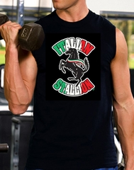 Italian Shooter Shirt - Stallion Sleeveless Muscle Shirt