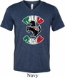 Italian Stallion Mens Tri Blend V-neck Shirt
