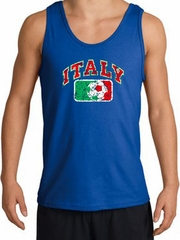Italian Tank Top - Italy Soccer Futbol Adult Royal Blue Tanktop Shirt