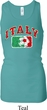 Italy Ladies Longer Length Racerback Tank Top