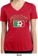 Italy Ladies Moisture Wicking V-neck Shirt