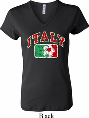 Italy Ladies V-neck Shirt