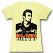 James Dean Juniors Shirt California Yellow Tee T-Shirt