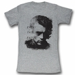 James Dean Juniors Shirt Everything Fades Grey Tee T-Shirt