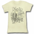 James Dean Juniors Shirt New York Yellow Tee T-Shirt